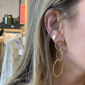 Earring gold circles