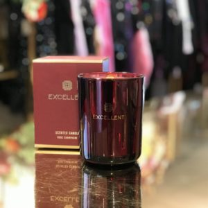 candle rose champagne small