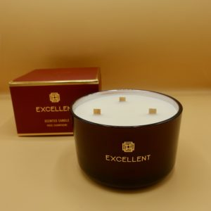 candle rose champagne 3