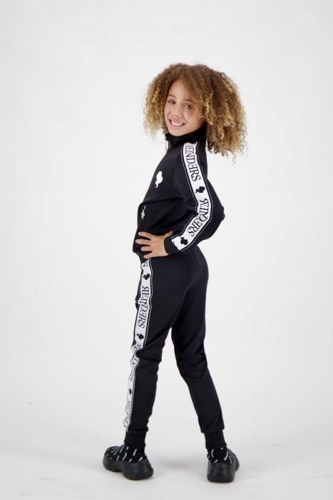 kids tracking pants zwart tracking vest kids Reinders zwart