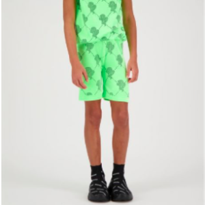 Kids short logomania groen