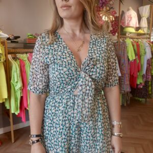 Jumpsuit dots coral green