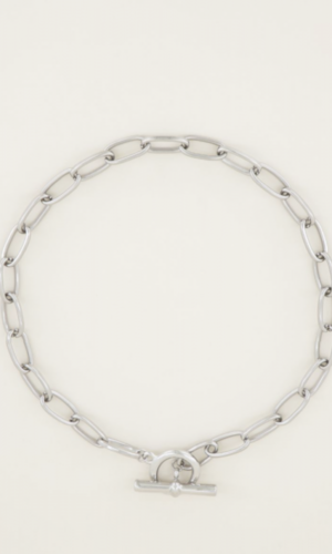 Bold chain ketting zilver