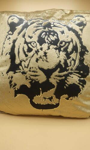 Cushion Tiger Head Gold