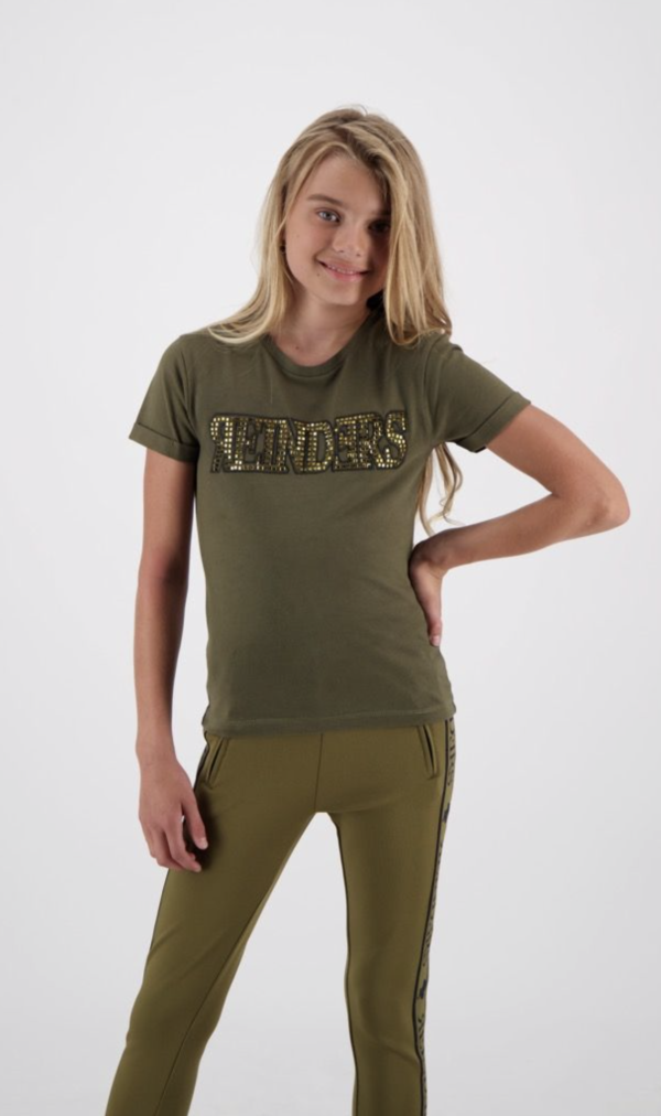 T-shirt Wording Diamonds Olive