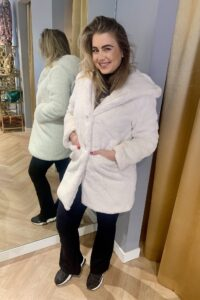 Soft Teddy Coat White