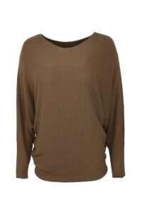 Basic Sweater Camel Sleeve