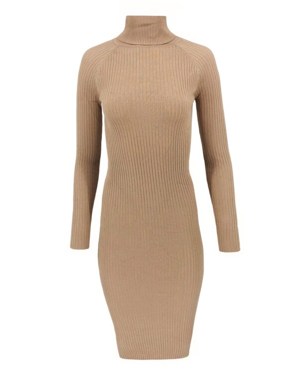Dress Col Long Taupe
