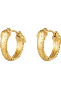 Earrings Panther Heads Gold