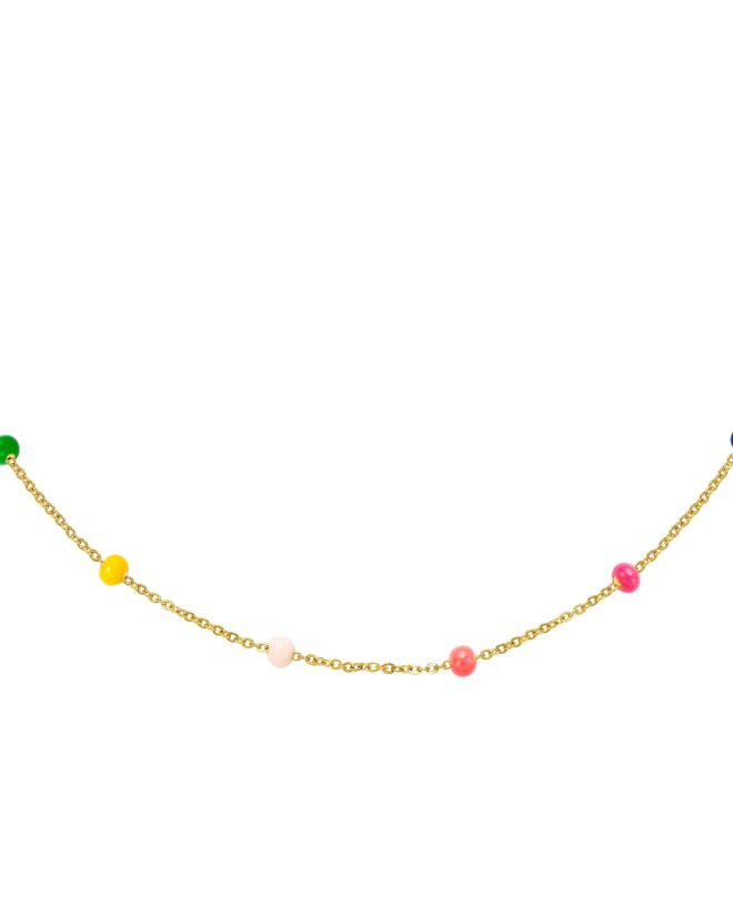 Necklace Big Colored Beads